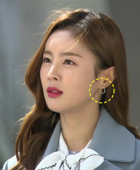 [한혜린착용] In full bloom_circle post earrings