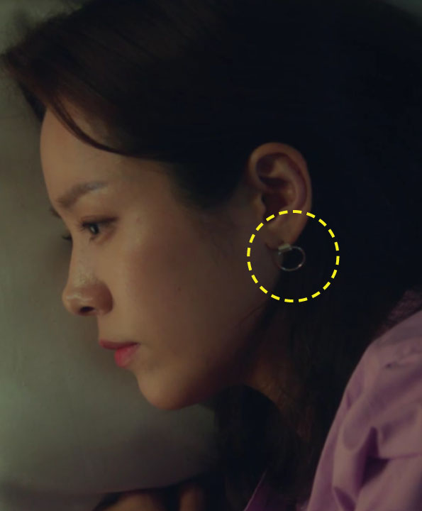 [한지민착용] Pipe o-ring earrings