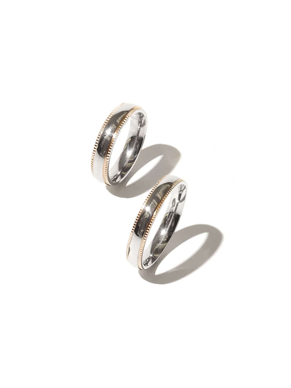 Two tone couple ring (Surgical steel)