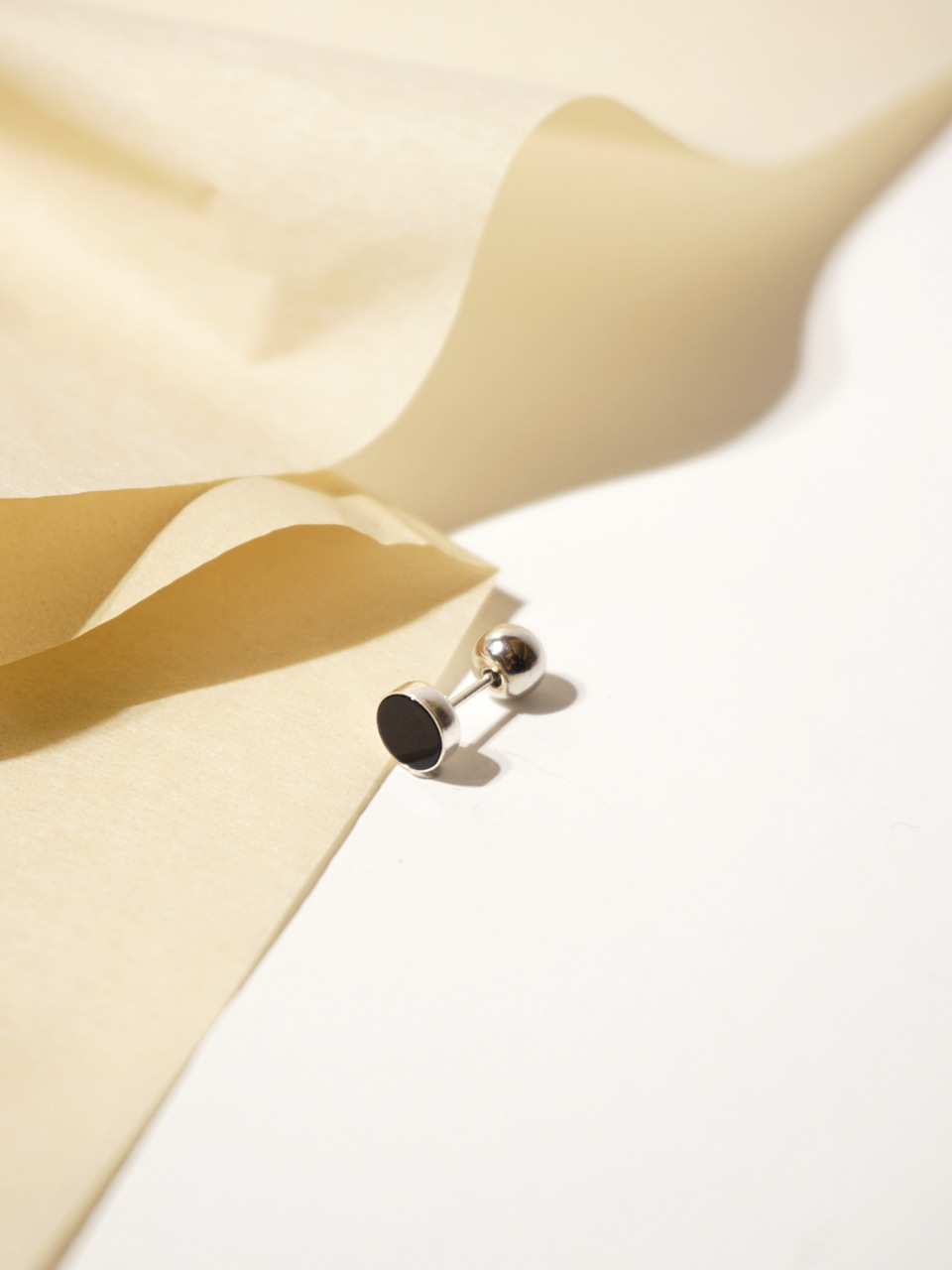 Daily 2way earrings_Onyx