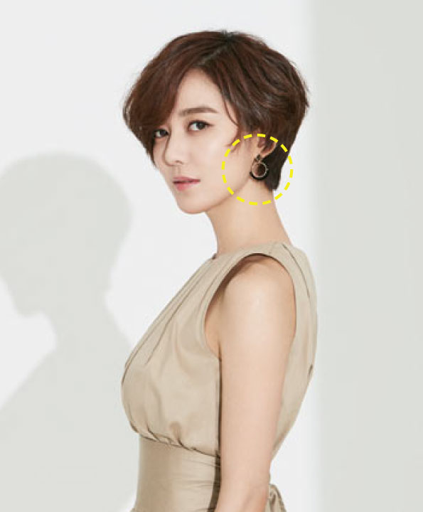 [이소연착용] Flying petals_half round earrings
