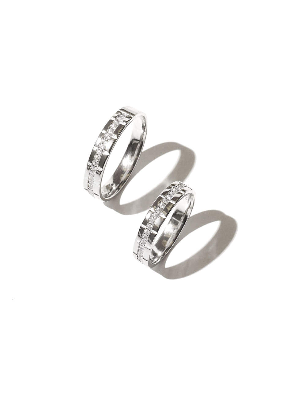 Middle cubic couple ring (Sterling silver 925)