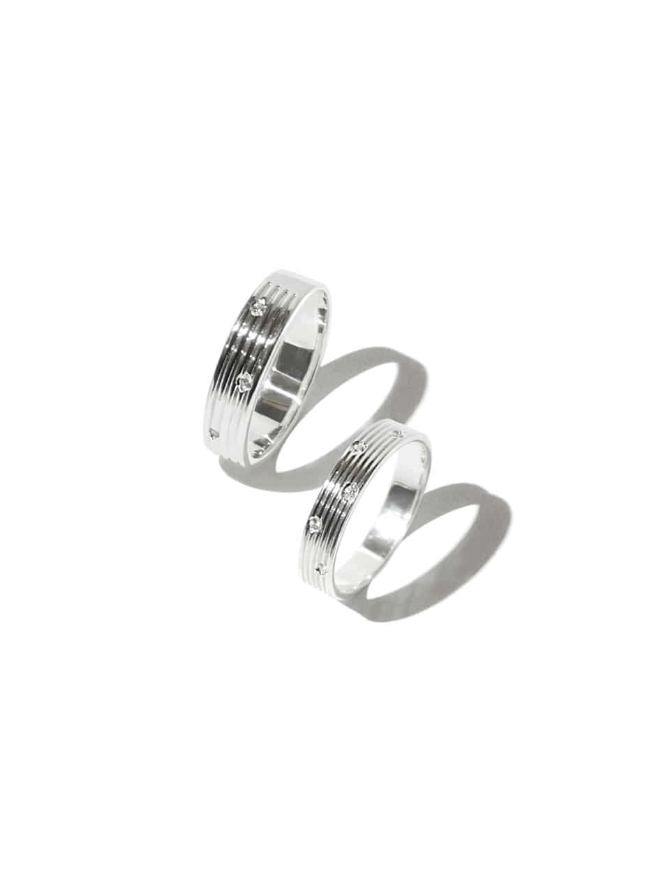 Falling snow couple ring  (Sterling silver 925)