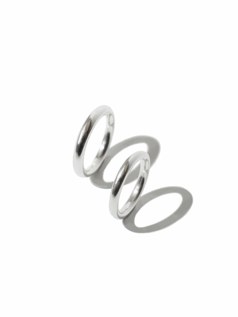 Loop couple ring (Sterling silver 925)