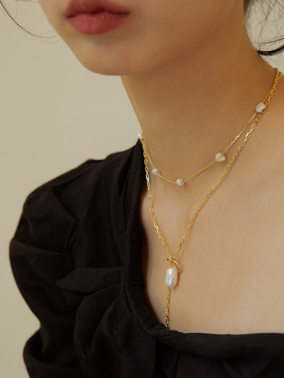 Ring&pearl necklace(링&펄목걸이)