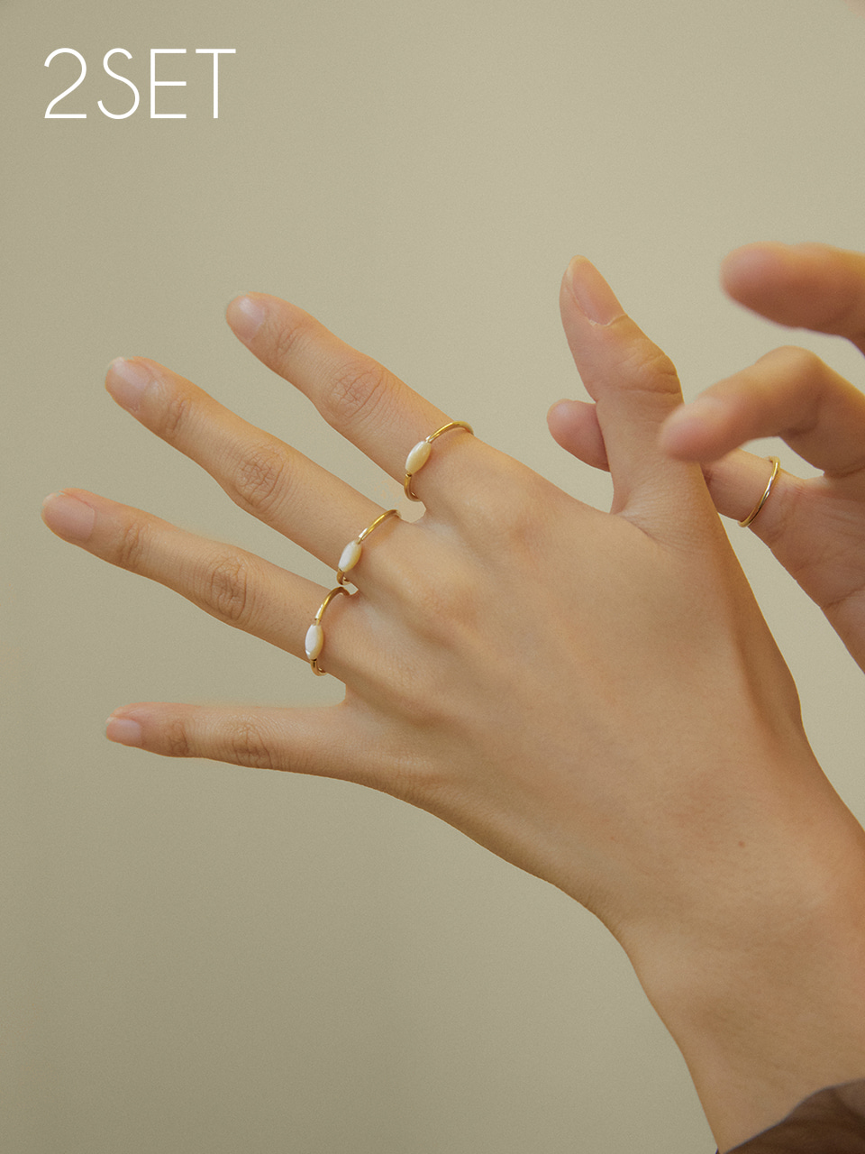 Mother pearl_oval ring 2set (마더펄오발반지2개세트)